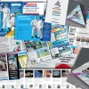 Brochures, flyers and sales support material